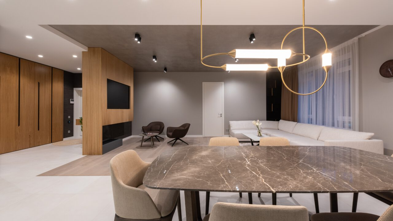 tafel met betonlook